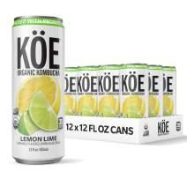 KÖE Organic Kombucha Cans, Lemon Lime, 12 Ounces, Pack of 12