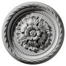 "Ekena Millwork CM11PA Palmetto Ceiling Medallion, 11 1/2""OD x 1""P, Factory Primed"