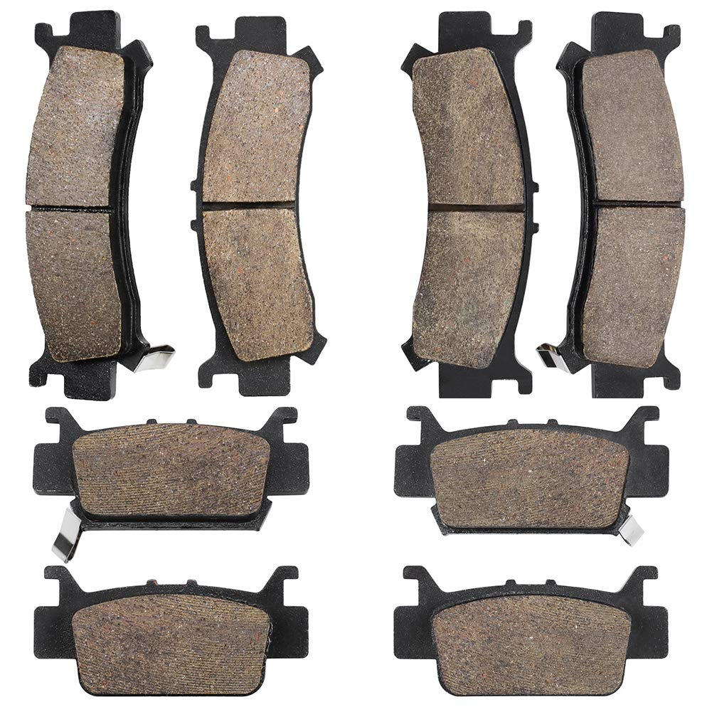 Cyleto Front & Rear Brake Pads Compatible with Honda Pioneer 1000 2016-2020 /Honda Pioneer 1000-5 2016-2020 # 06451-HL4-A01 06452-HL4-A01 06431-HL4-A01 06432-HL4-A01