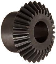 "Martin M1020C Miter Gear, 20° Pressure Angle, High Carbon Steel, Inch, 0.440"" Face, 7/8"" Bore Diameter, 2"" Pitch Diameter, 2.14"" Outer Diameter, 20 Teeth"