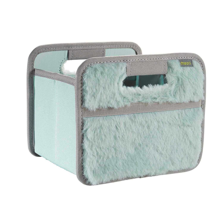 meori Foldable Mini Candy 6 x 5 Stable Polyester Desk Bathroom Corridor Storage Box Pencils Accessories Storing, 1-Pack, Mint/Plush