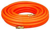 "Amflo 576-25A Orange 300 PSI PVC Air Hose 3/8"" x 25' With 1/4"" MNPT End Fittings"