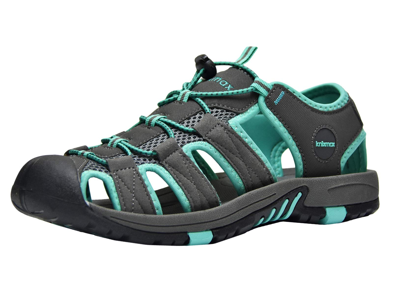 Knixmax Men's Closed Toe Sport Sandals Breathable Water Shoes Athletic Summer Sandal for Hiking Gardening Beach Outdoor