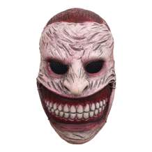 molezu Wickedly Grinning Horror Clown Mask Scary Clown Latex Face Cosplay Costume