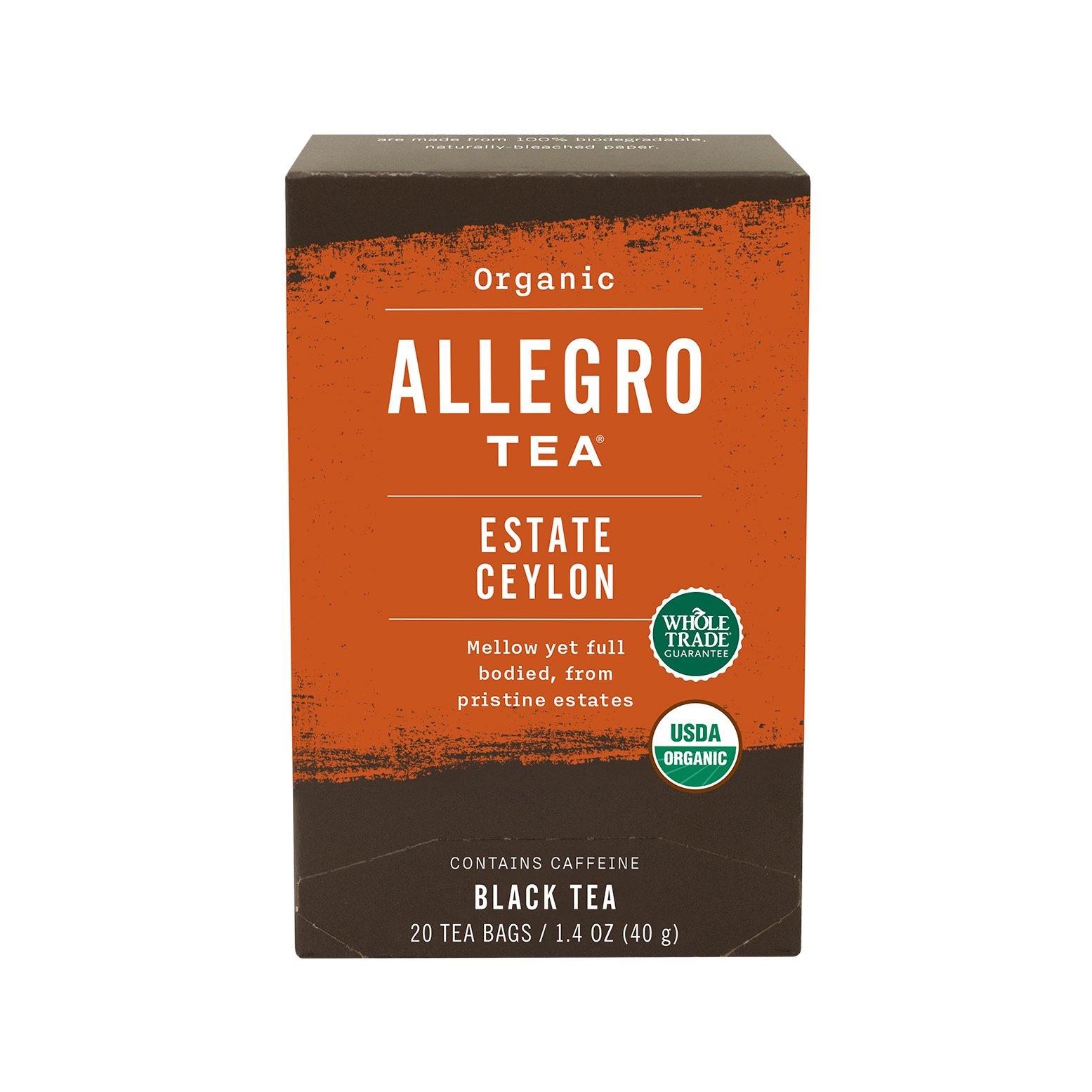 Allegro Tea, Organic Estate Ceylon Tea Bags, 20 ct
