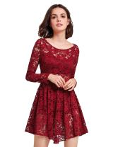 Alisapan Sweetheart Neckline Short Lace Fit and Flare Retro Dress 05803