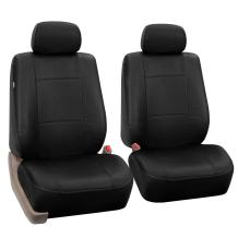 FH Group PU001BLACK102 Universal Fit Front Car Seat Cover - Faux Leather (Black), Set of 2