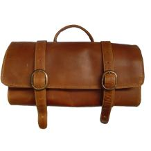 Canyon Outback Leather Goods, Inc. Buffalo Mountain Hanging Leather Toiletry Bag, Distressed Tan, One Size