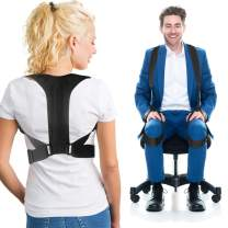 Posture Corrector For Men and Women Back Brace Clavicle Support with Adjustable 2 Wearing Ways - More Effective Posture Brace Relieve Pain for Shoulders Back -2020 Updated Version (Large)