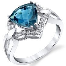 London Blue Topaz Regalia Ring 14K White Gold