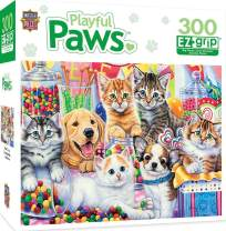MasterPieces Playful Paws Fun Size - Puppies & Kittens Large 300 Piece EZ Grip Jigsaw Puzzle by Jenny Newland