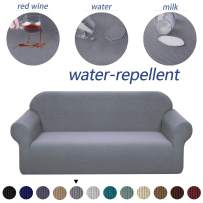 Granbest Premium Water Repellent Sofa Cover High Stretch Couch Slipcover Super Soft Fabric Couch Cover (Light Gray, Loveseat)