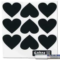 Cohas Chalkboard Labels in Heart Shape Includes Liquid Chalk Marker and 27 Labels, Fine Tip, White Marker