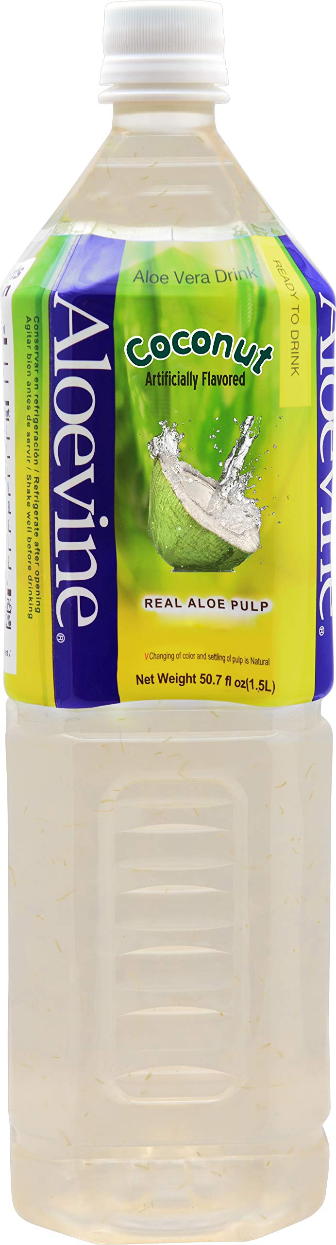 ALOEVINE Aloe Vera Drink 50.7 oz. 6 Pack (Coconut)
