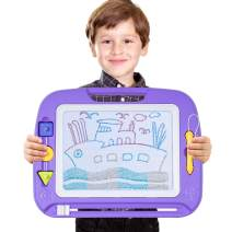 SGILE Large Magnetic Doodle Board, Magnetic Erasable Drawing Pad Gift for Kids Toddler (Purple)