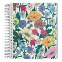 Erin Condren 18 - Month 2020-2021 Flower Power Coiled Life Planner with Layers Neutral Interior (July 2020 - December 2021) Horizontal Weekly Layout. Organizer, Monthly Calendar Tabs and Stickers