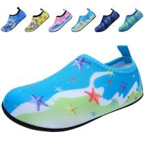 BODATU Boys' Girls' Swim Water Shoes Kids Quick Dry Barefoot Aqua Sock Shoes for Beach Pool