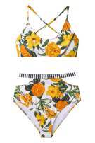 CUPSHE Women's Floral Paradise High Waisted Bikini