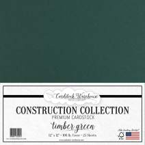 Timber Green/Dark Green Cardstock Paper - 12 x 12 inch Premium 100 LB. Cover from - 25 Sheets from Cardstock Warehouse