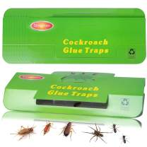 12 Pack Roach Killer Roach Bait Traps Cockroach Killer Indoor Home Glue Traps for Beetles Roaches Bugs Spiders Crickets