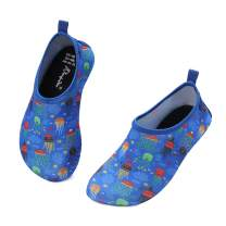 Kkomforme Kids Beach Water Shoes Non-Slip Quick Dry Swim Barefoot Aqua Pool Socks Shoes for Boys and Girls Toddler
