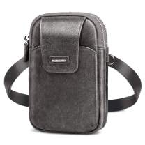 nuoku Fanny Pack Waist Bag for Men Lightweight Roomy Travel Passport Belt Bag Small Cross body Bag for men With RFID Card Slots (Gray)