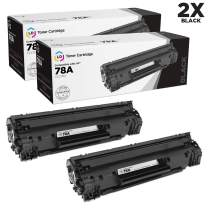 LD Compatible Toner Cartridge Replacements for HP 78A CE278A (Black, 2-Pack)