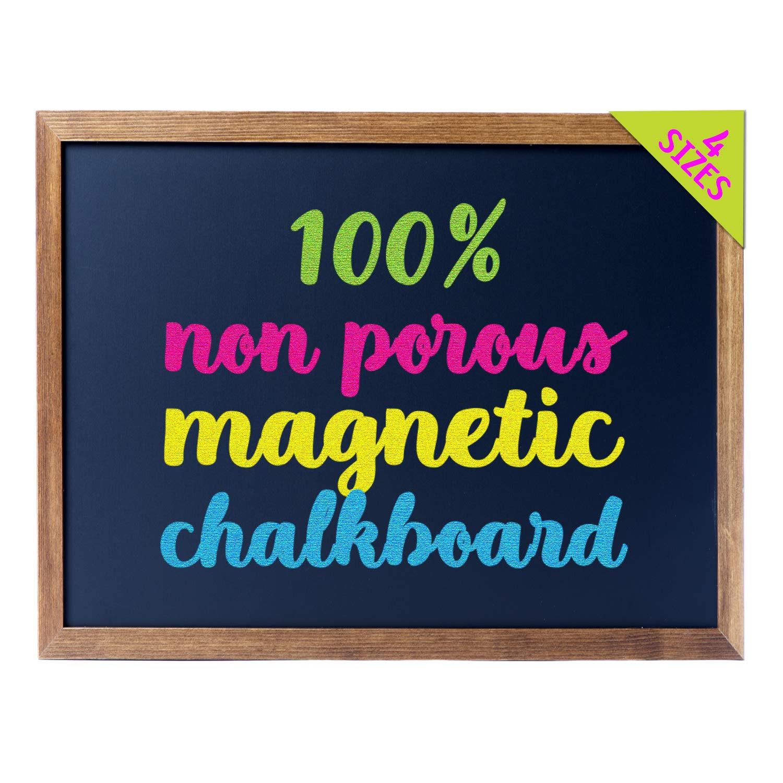 "Cedar Markers 24""x18"" Best Homeschool Chalkboard with Wood Frame. 100% Non-Porous Erasable Blackboard and Whiteboard for Liquid Chalk Markers. Magnet Board Chalk Board (24x18)"