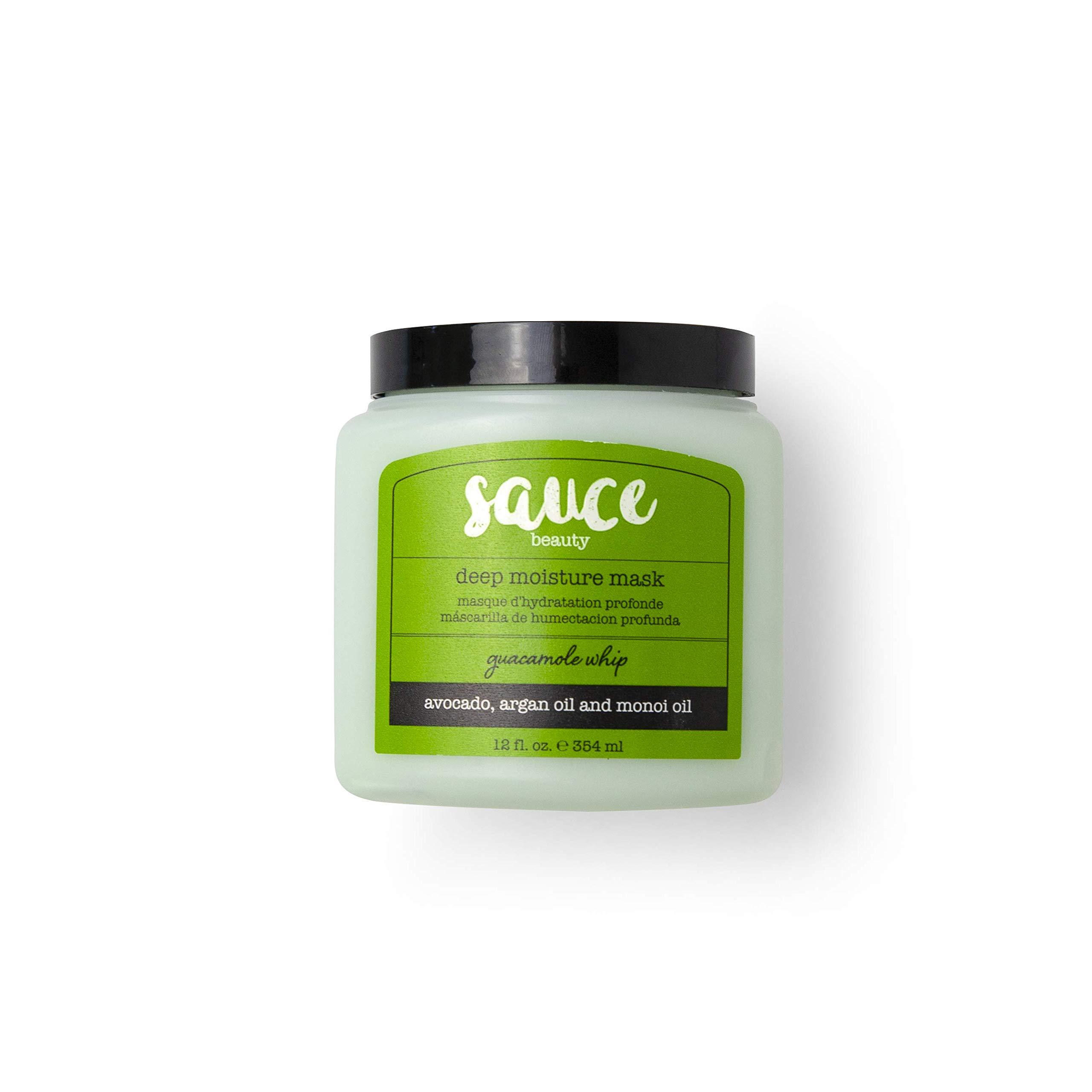Hair Mask - Sauce Beauty Guacamole Whip Deep Moisture Mask Hair Treatment - Avocado, Jarrah Honey & Argan Oil. Deep Conditioning Hair Mask for Dry, Damaged Hair - Repair, Moisturize and Improve Shine