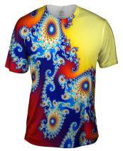 Yizzam- Mandel Fractal Center Blue -Tagless- Mens Shirt
