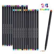 Watercolor Brush Markers Pen Set, 24 Colors Fine Line Pen Watercolor Drawing Gel Pen Painting Tool Set Office School Art Supplies Pencil