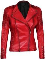 Decrum Red Womens Leather Jackets | [1300405] Janie, XL
