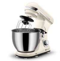 Ventray Stand Mixer 6-Speed 4.5-Quart Stainless Steel Bowl with Pouring Shield - Cream Beige