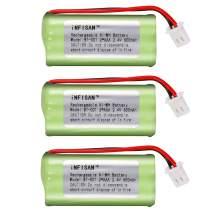 3 Pack iNFISAN NI-MH Rechargeable Battery Pack 2.4V 2AAA 600mAh for BT183342 BT283342 BT166342 BT266342 BT162342 BT262342 Battery Compatible AT&T EL50003 EL50013 EL51103 EL51203 EL52100 EL52200