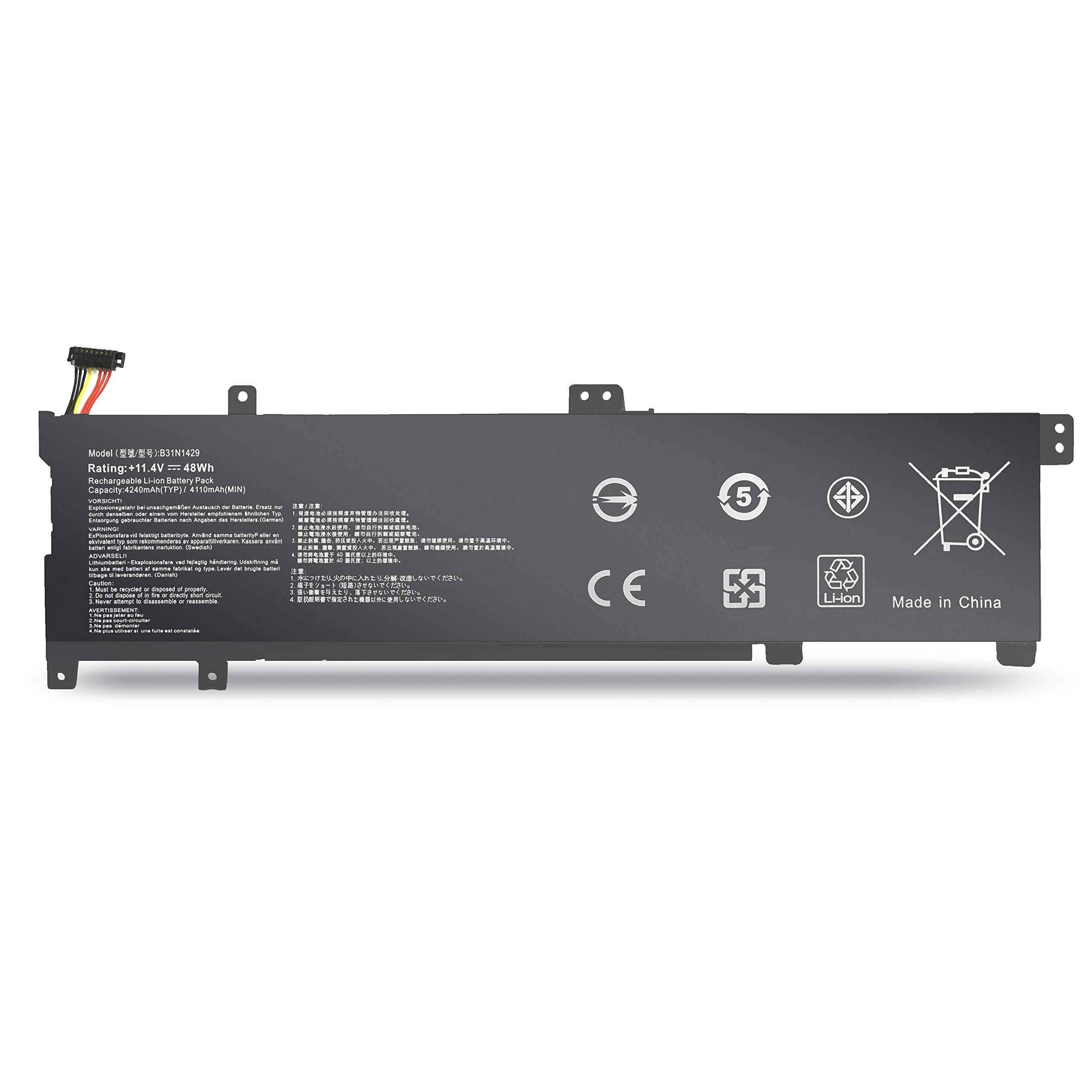 BatteryMon B31N1429 Battery for Asus K501L K501LX K501LB K501UX K501U K501UB K501UW K501LX-NH52 A501LB5200 Vivobook A501LX Laptop