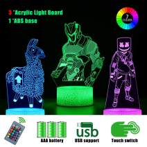 3D Battle Royale Night Light - 3 Pattern 16 Color Change Decor Lamp with Remote & Smart Touch, Christmas and Birthday Gifts for Battle Royale Fans … (2)