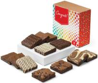 Fairytale Brownies Congratulations Nut-Free Dozen Gourmet Chocolate Food Gift Basket for New Home Anniversary New Baby and More - 3 Inch Square Full-Size Brownies - 12 Pieces - Item CG122
