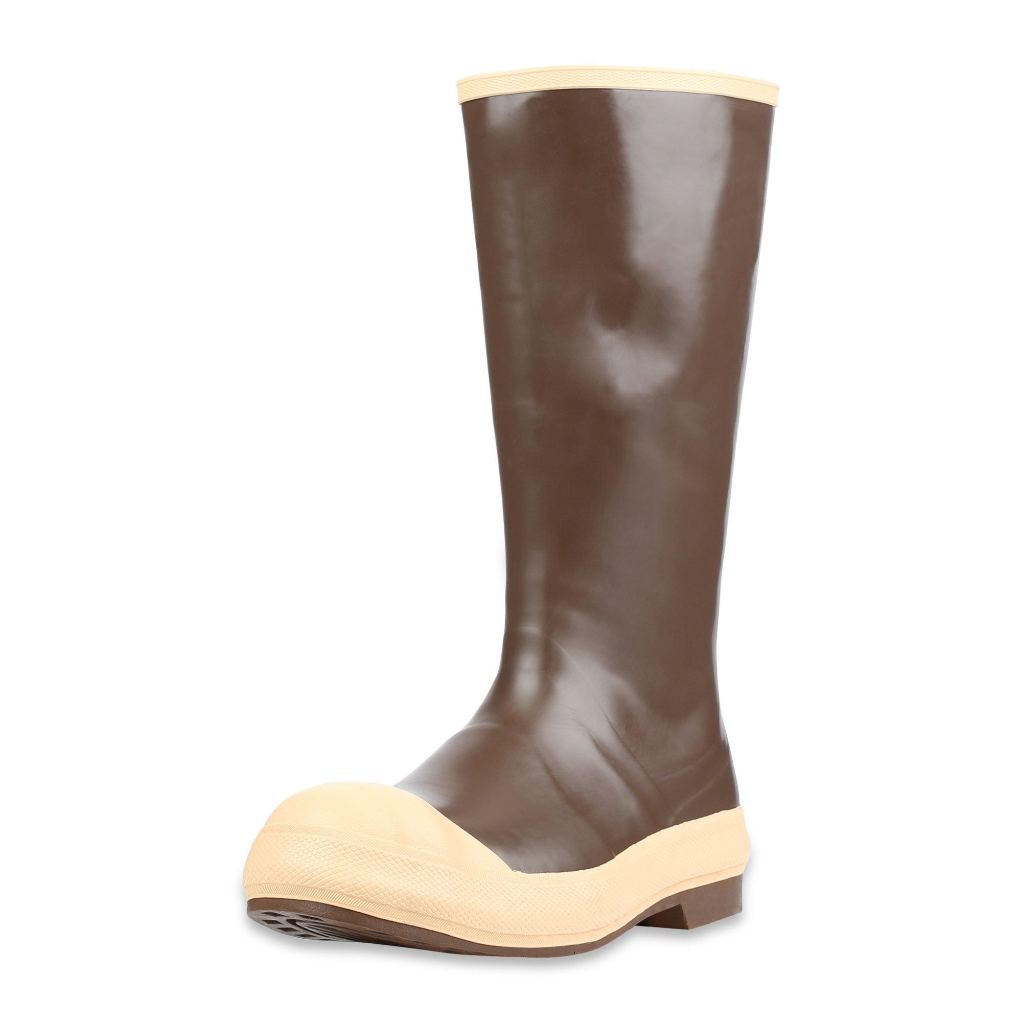 """Servus 15"""" Neoprene Steel Toe Men's Work Boots with Chevron Outsole, Copper & Tan (22214)"""