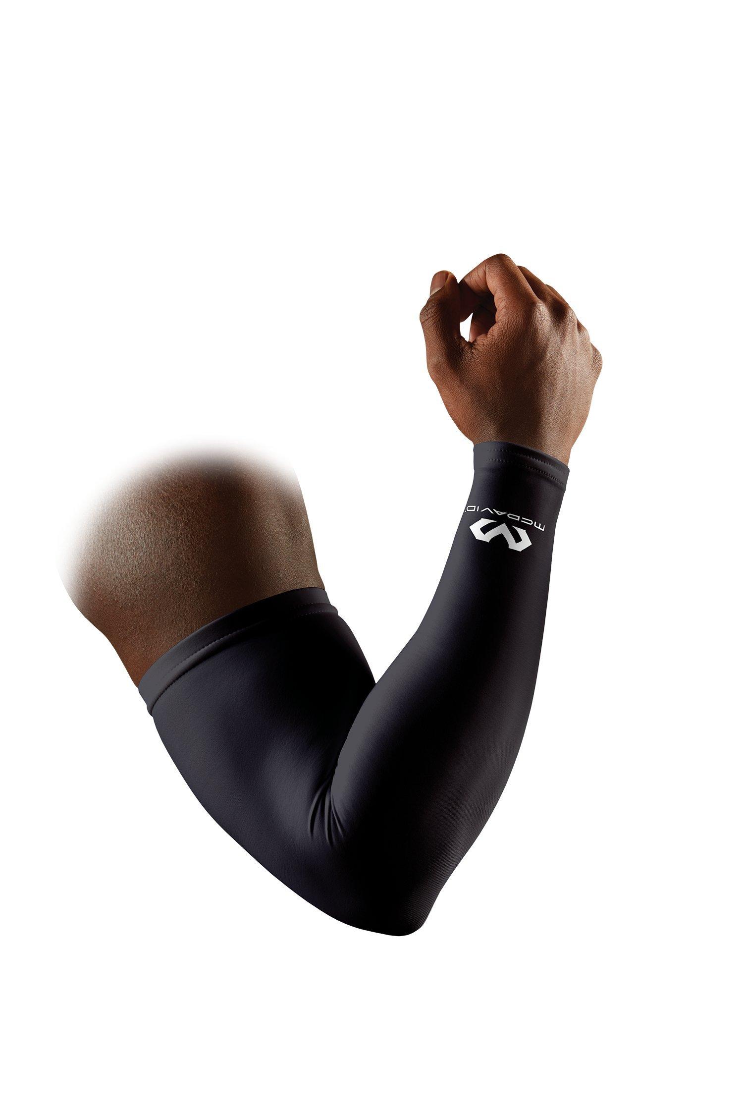 McDavid Compression Arm Sleeve, 50+ UV Skin Protection, Cooling Arm Sleeve for Sports, Running, Basketball, Baseball, Football