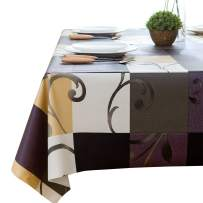 LEEVAN Heavy Weight Vinyl Rectangle Table Cover Wipe Clean PVC Tablecloth Oil-proof/Waterproof Stain-resistant- 54 x 84 Inch(Stylish Plaid)