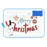 Dry Erase Lapboard for Kids, Personal Whiteboards with 3 Magnetic Markers Gifts for Students, A4 Size Kids Small White Board Double-Sided Lined/Blank Lap Board for Boys Girls Learning Writing Drawing