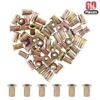 Hilitchi 60 Pcs 5/32-32 UNC Rivet Nuts Threaded Insert Nut (5/32-32 UNC Rivnut)