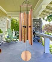 ASTARIN Memorial Wind Chimes Outdoor Large Deep Tone, 36 Inch Sympathy Wind Chimes Tuned Soothing Melody as Gift, Outdoor Decoration for Your Garden,Patio, Porch, Yard, Home, Deck, Rose Gold