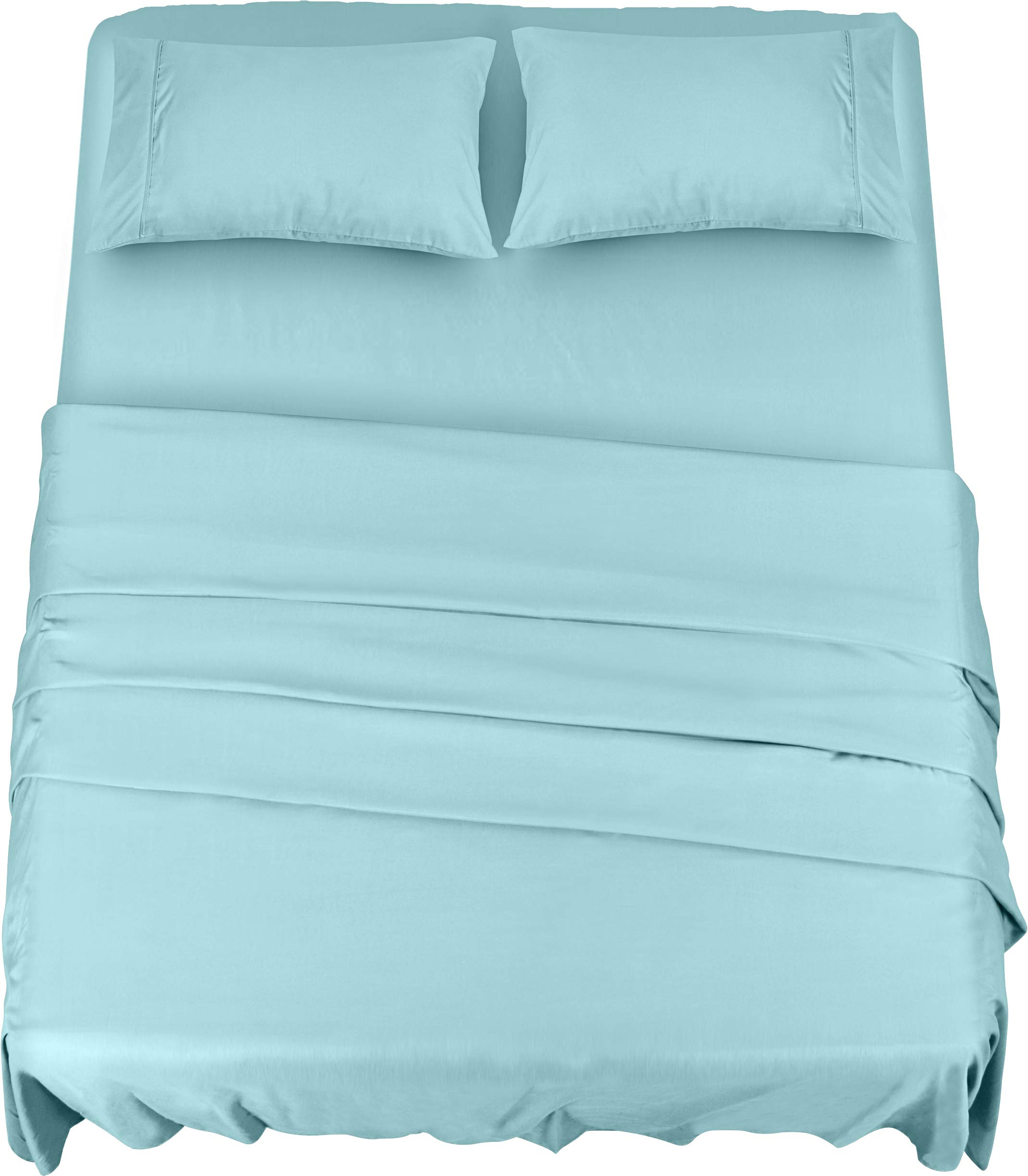 Utopia Bedding Bed Sheet Set - 4 Piece Queen Bedding - Soft Brushed Microfiber Fabric - Shrinkage & Fade Resistant - Easy Care (Queen, Blue)