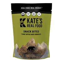 Kate's Real Food Granola Bites 2 Pack   Grizzly Bar Peanut Butter and Dark Chocolate   Clean Energy, Organic Ingredients, Gluten Free, Non GMO   All Natural Delicious Health Snack