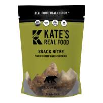 Kate's Real Food Granola Bites 2 Pack | Grizzly Bar Peanut Butter and Dark Chocolate | Clean Energy, Organic Ingredients, Gluten Free, Non GMO | All Natural Delicious Health Snack