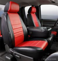Fia SL67-36 RED Custom Fit Front Seat Cover Split Seat 40/20/40 - Leatherette (Black w/Red Center Panel)