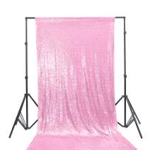 TRLYC 20Ft W by 10FT H Sparkly Blush Pink Sequin Backdrop Curtain for Wedding Halloween Thanksgiving Day Christmas