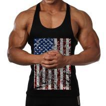 InleaderAesthetics Men's America Flag Bodybuilding Stringer Tank Tops