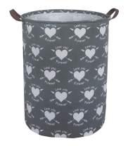 ESSME Laundry Hamper,Collapsible Canvas Waterproof Storage Bin for Kids, Nursery Hamper,Gift Baskets,Home Organizer (Love Arrows)